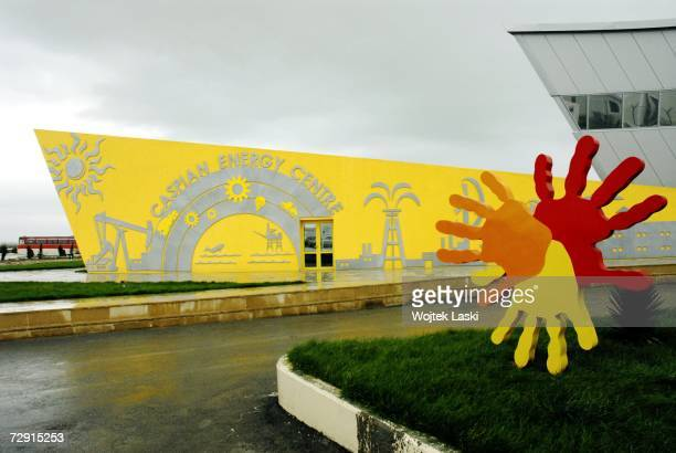 The heavily guarded Caspian Energy Centre located at the Sangachal Terminal, October 26, 2006 in Baku, Azerbaijan. Oil-rich Azerbaijan gained...