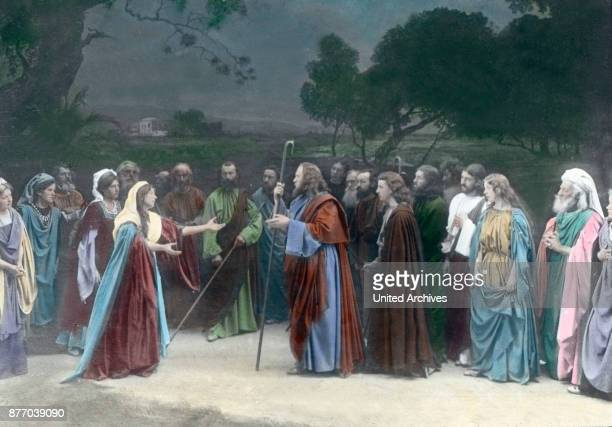 The heavy farewell to the friends at Bethany is over a much heavier still is the Saviour before that from his mother Jesus meets his mother at the...