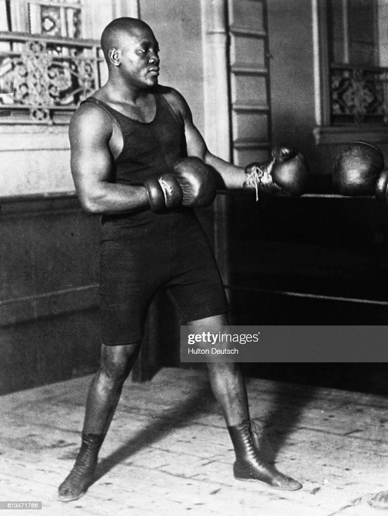 The heavyweight boxing champion Jack Johnson (1878-1946).