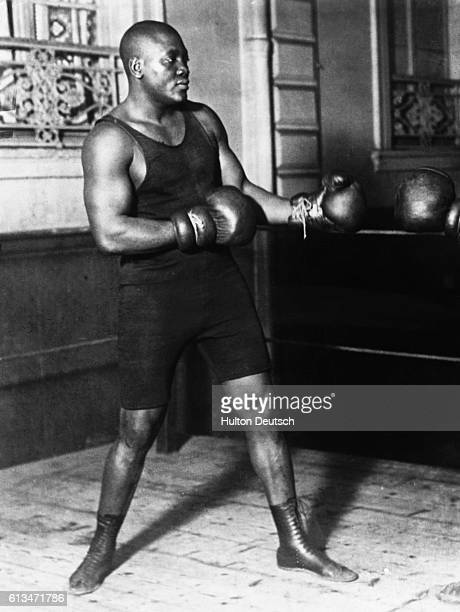 The heavyweight boxing champion Jack Johnson
