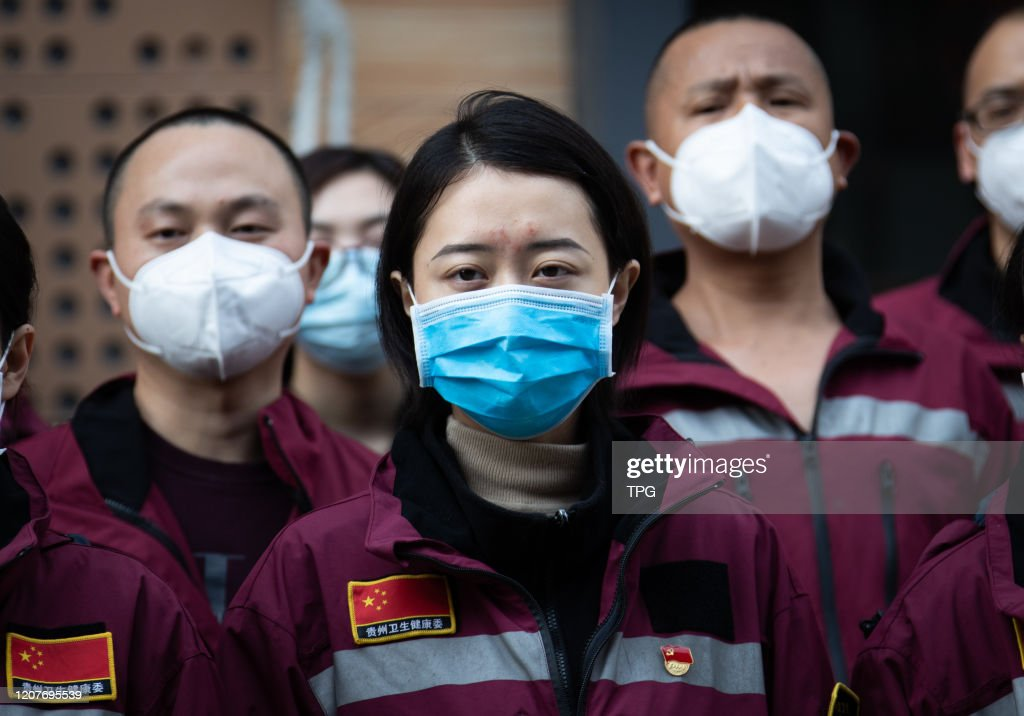 The Hebei medical team who went to Wuhan to help people fight against novel coronavirus return  home in Wuhan,Hubei,China on 19th March, 2020 : ニュース写真