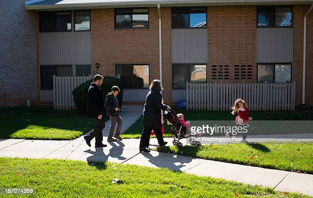 The Heffer family walks through the apartment complex to a playground From left to right is Chen Amit Gali Yuval Roni and Maayan 6 Several months ago...