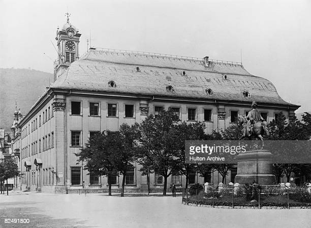The Heidelberg Old University or 'Domus Wilhelmina' on University Square circa 1930 Built by Johann Adam Breunig in 1735 it later became the seat of...