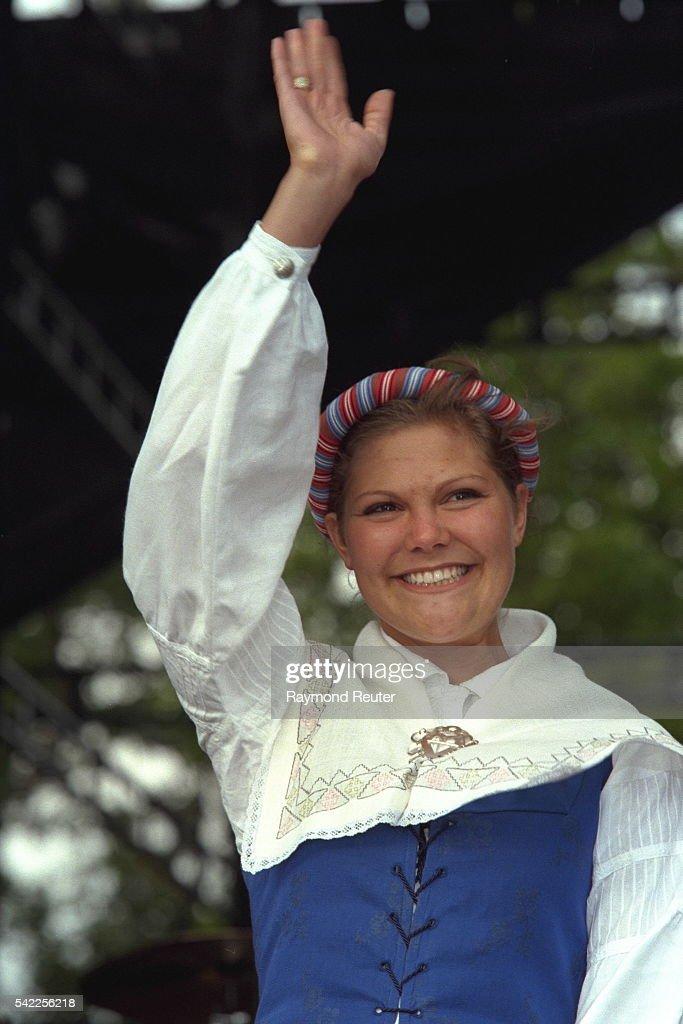 PRINCESS VICTORIA OF SWEDEN'S 21ST BIRTHDAY : News Photo