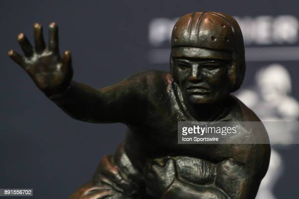 The Heisman Trophy during the Heisman Trophy Finalists Press Conference on December 9 at the Marriott Marquis in New York Coty NY