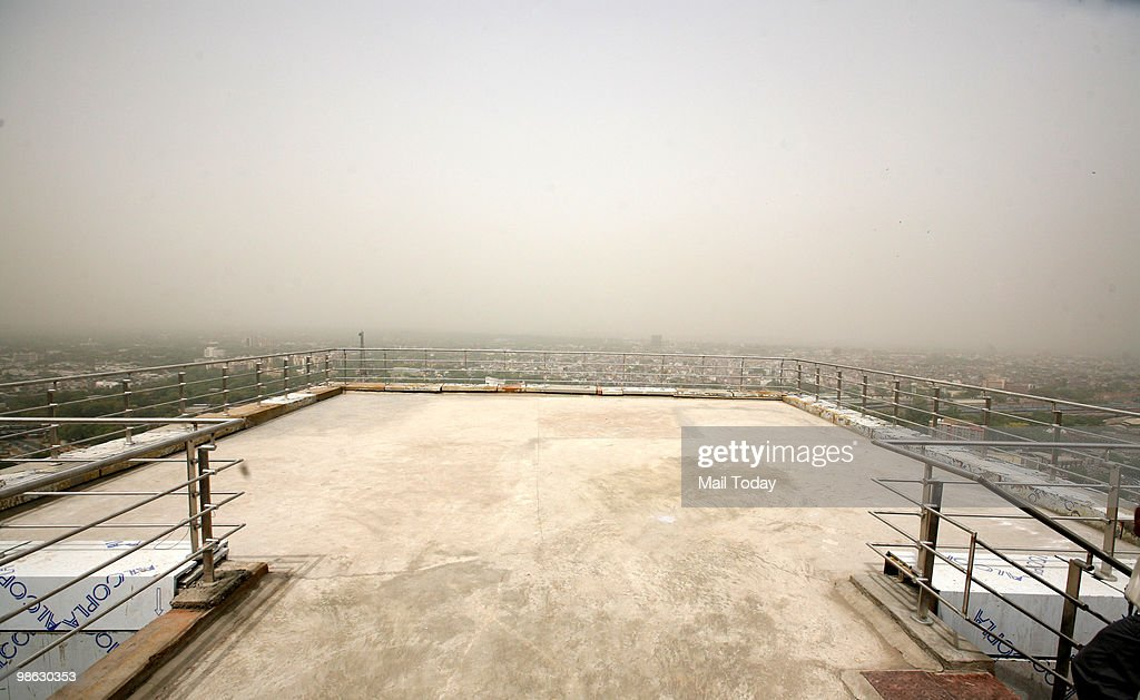 The Helipad at the Shyama Prasad Mukherjee Civic Centre, which was inaugurated on Thursday, in New Delhi on April 22, 2010.