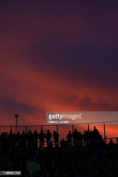 The Hellas Verona fans during the Serie A match between Atalanta BC and Hellas Verona at Gewiss Stadium on December 7 2019 in Bergamo Italy