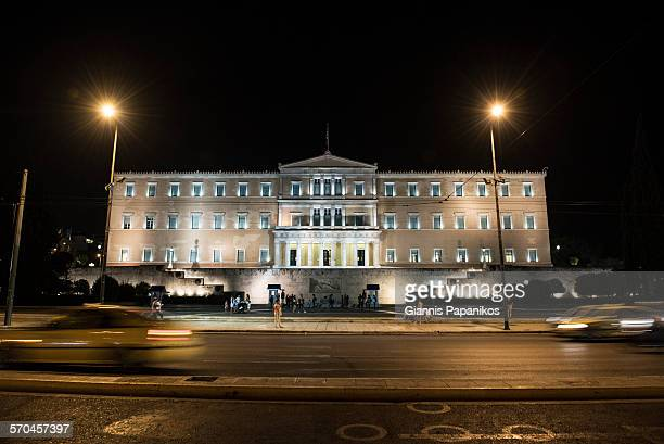the hellenic parliament - greek parliament stock pictures, royalty-free photos & images