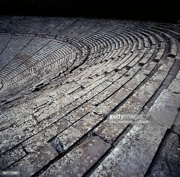 The Hellenistic Theatre ca 340 BC architect Polykleitos Epidaurus Peloponnese Greece Hellenistic civilisation 4th century BC