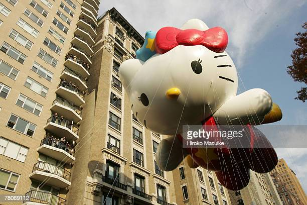 The Hello Kitty balloon floats during the 81st annual Macy's Thanksgiving Day Parade on November 22 2007 in New York City