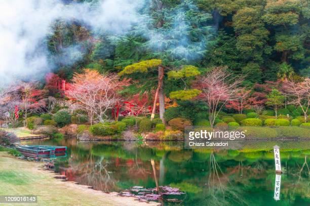 the hells of beppu: kannawa area. - 大分県 ストックフォトと画像
