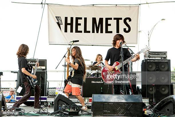 The Helmets perform on the Kidzapalooza Stage during 2015 Lollapalooza Day Two at Grant Park on August 1 2015 in Chicago Illinois