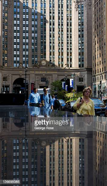 The Helmsley Building on Park Avenue is reflected in granite on September 10 2011 in New York City The borough of Manhattan was a tense mix of...