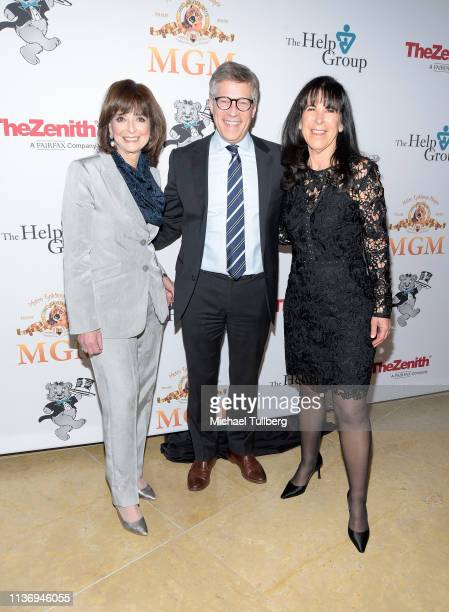 The Help Group CEO D Barbara Firestone Steve Stark president of television and development at MGM and The Help Group COO Dr Susan Berman attend The...