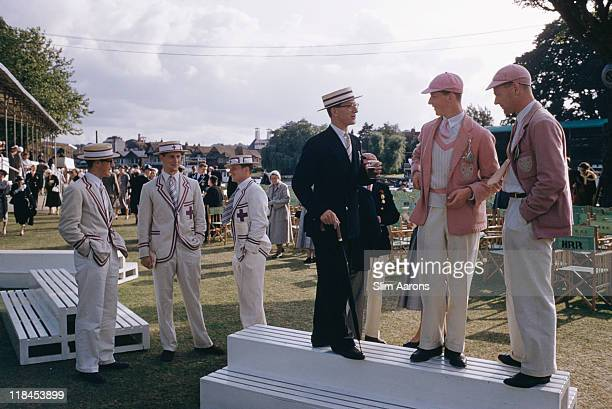 The Henley Regatta at HenleyonThames on the River Thames circa 1955