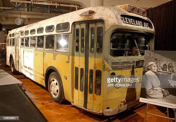 The Henry Ford Museum commemorates the 46th anniversary of U.S. Civil rights legend Rosa Parks' arrest aboard a Montgomery, Alabama, bus in 1955 by...