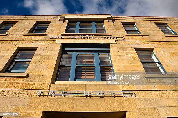 the henry jones art hotel on hunter street. - henry street stock pictures, royalty-free photos & images