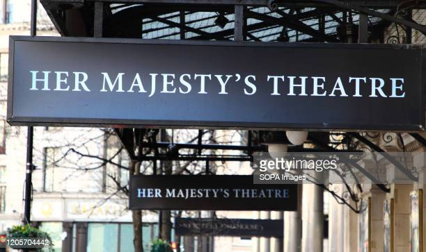 The Her Majestys theatre in Haymarket current home to 'Phantom of the Opera' in London's home of Theatre - The West End. Some of the most famous...