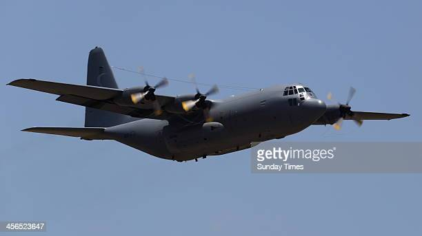 The Hercules C130 carrying Nelson Mandela's remains on December 14 2013 in Pretoria South Africa World icon Nelson Mandela passed away quietly on the...