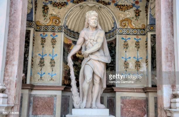 the hercules grotto - salzburg, austria - mythological character stock photos and pictures