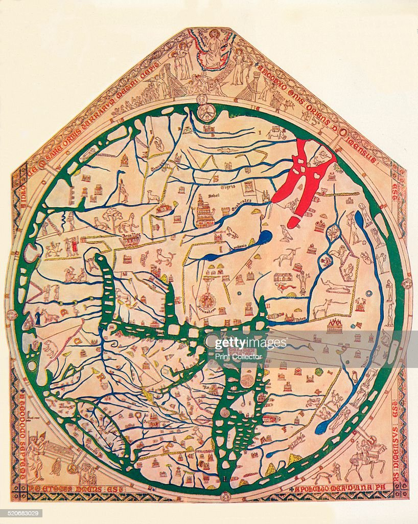 The Hereford Mappa Mundi c1285 1912 Artist Richard de Bello