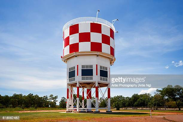 The Heritage Listed 2nd Darwin Control Tower And Water Tank At Australian Aviation Heritage Centre, Darwin, Northern Territory, Australia