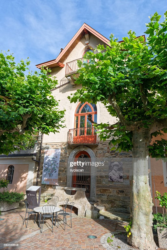 The Hermann Hesse Museum in Montagnola : Stock Photo