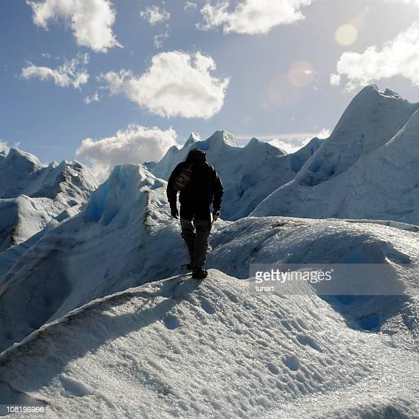 The Hero, Lonely man on Iceberg, Patagonia, Argentina