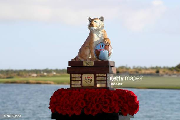 The Hero World Challenge trophy is shown during the final round of the at Albany, Bahamas on December 02, 2018 in Nassau, Bahamas.