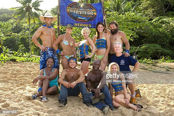 The 'Heroes' team on SURVIVOR HEROES VS VILLAINS Colby Donaldson Stephenie LaGrossa Jessica 'Sugar'Kiper Amanda Kimmel and Rupert Boneham Cirie...