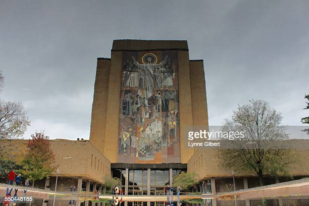 The Hesburgh Library at The University of Notre Dame in South Bend Indiana Named after Fr Theodore Hesburgh who recently passed away