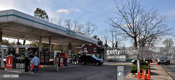 The Hess gas station on Fort Salonga Road in Northport saw long gas lines in the days after Hurricane Sandy struck Long Island. 11-5-12