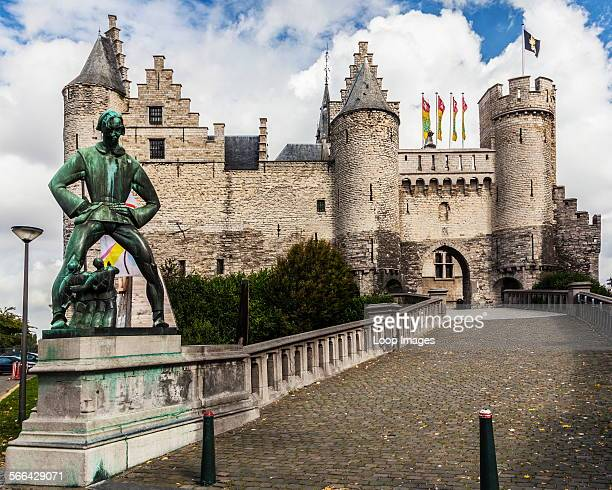 The Het Steen or Stone Castle which is a medieval fortress on the banks of the River Scheldt in Antwerp.