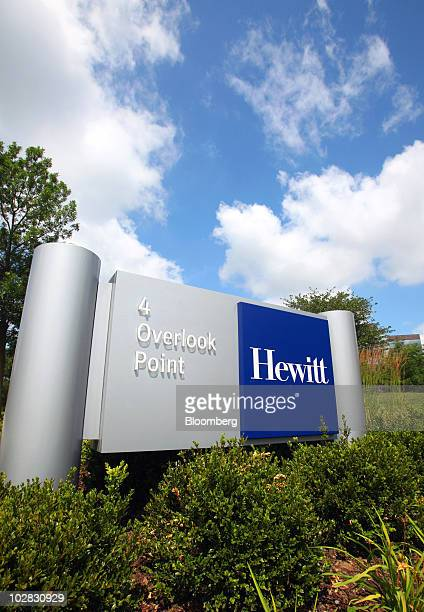 The Hewitt Associates Inc sign is displayed at the company's headquarters campus in Lincolnshire Illinois US on Monday July 12 2010 Aon Corp the...