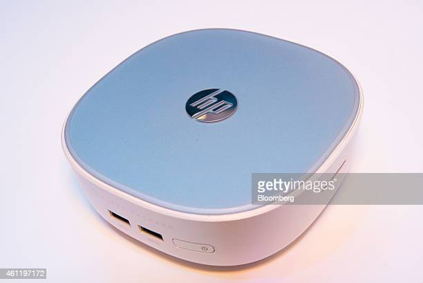 The HewlettPackard Co Pavillion Mini Desktop computer is displayed at the 2015 Consumer Electronics Show in Las Vegas Nevada US on Thursday Jan 8...