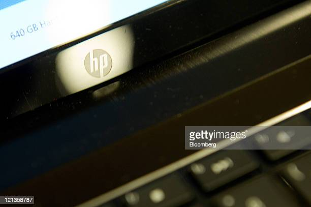The HewlettPackard logo is seen on a laptop comptuer monitor in a Best Buy store in East Palo Alto California US on Thursday Aug 18 2011...