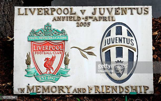 The Heysel commemorative ceremony on May 29 2010 in Turin Italy The ceremony remembers the disaster 25 years ago at Heysel Stadium when a wall...