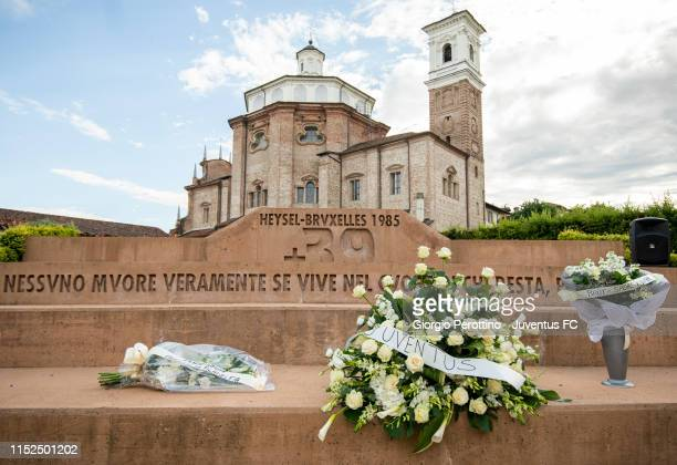 The Heysel Memorial to remember the 39 victims of the Heysel Stadium disaster is seen on May 29 2019 in Cherasco Italy