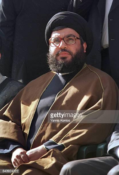 The Hezbollah leader Sheikh Nasrallah. | Location: Blint Jbeil, South Lebanon.