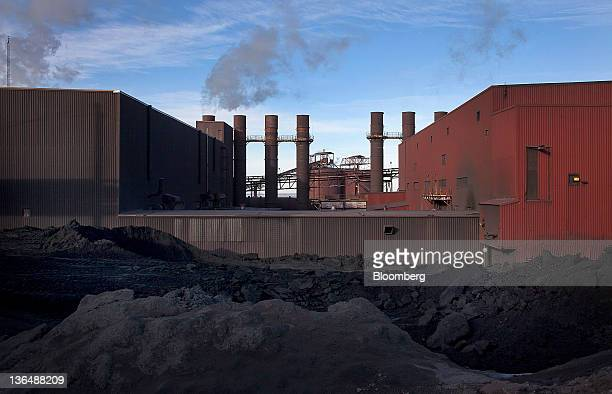The Hibbing Taconite Co pellet manufacturing plant operated by Cliff's Natural Resources Inc stands in Hibbing Minnesota US on Thursday Jan 5 2012...