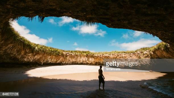 the hidden beach marietas islands puerto vallarta - mexico stock pictures, royalty-free photos & images