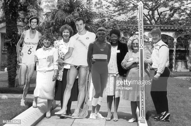 The 'Hidden Heroes' of British sport mothers of successful sportsmen and women in London holding cardboard cutouts of their famous offspring as they...