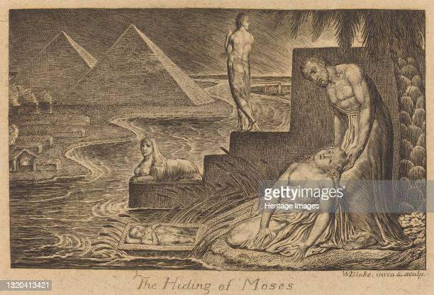 The Hiding of Moses, 1824. Artist William Blake.