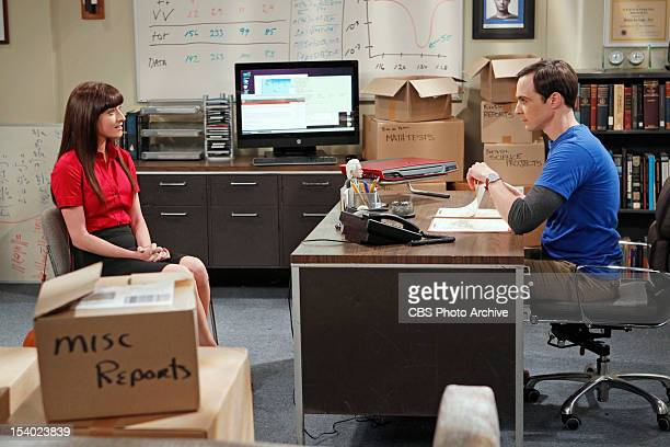"""The Higgs Boson Observation"""" -- Amy feels threatened when Sheldon hires a young female assistant , on THE BIG BANG THEORY, Thursday, Oct. 11 on the..."""