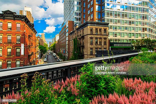 the high line, new york - chelsea new york stock photos and pictures