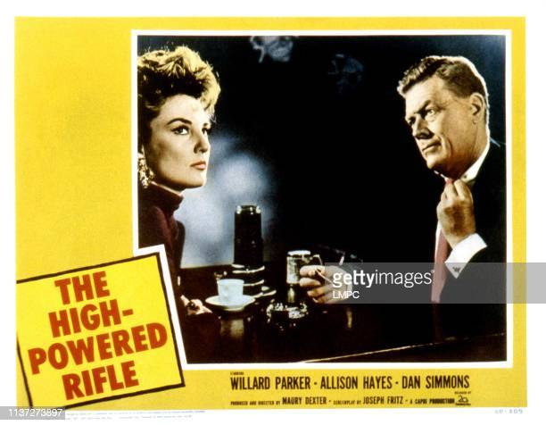 The High Powered Rifle lobbycard from left Allison Hayes Willard Parker 1960