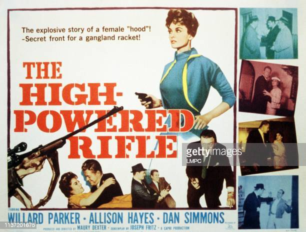 The High Powered Rifle poster Allison Hayes Willard Parker 1960