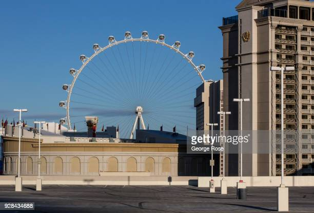 The High Roller Observation Ferris wheel is viewed from Caesars Palace Hotel Casino on March 2 2018 in Las Vegas Nevada Millions of visitors from all...
