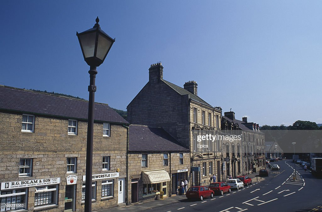 The High Street in Rothbury, Northumberland, June 1997.