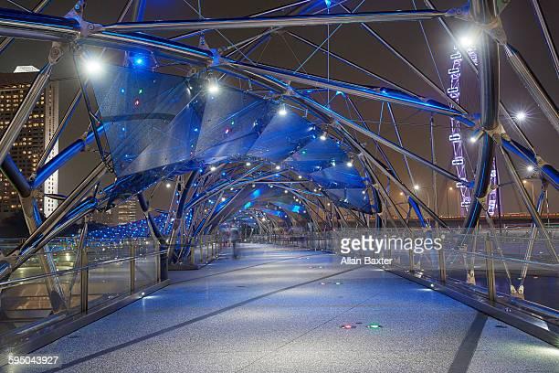 The High Tech Helix bridge in Singapore